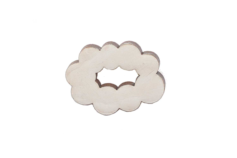 sky brooch / cloud white