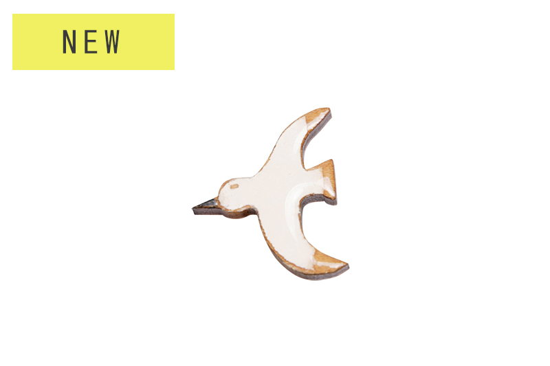 Clearwood Animal Brooch / Seagull